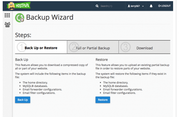 Backup Wizard